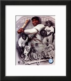 Jackie Robinson Legends Composite Framed Photographic Print