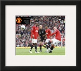 Manchester United-Rooney Goal Framed Photographic Print