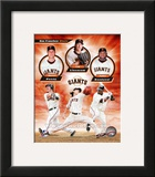 San Francisco Giants 2011 Triple Play Composite Framed Photographic Print