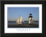Success It is by Taking Chances that We Succeed Lighthouse Motivational Prints
