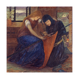 Lady Affixing Pennant to a Knight's Spear Giclee Print by Elizabeth Eleanor Siddal
