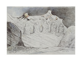 Illustrations to Dante's 'Divine Comedy', the Primaeval Giants Sunk in the Soil Giclee Print by William Blake