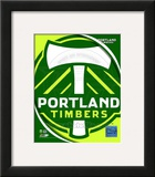2011 Portland Timbers Team Logo Framed Photographic Print