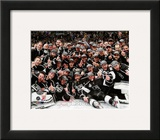 The Los Angeles Kings Team Celebration on ice after Winning Game 6 of the 2012 Stanley Cup Finals Framed Photographic Print