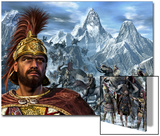 Portrait of Hannibal and His Troops Crossing the Alps Prints by Stocktrek Images