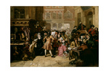 The South Sea Bubble, a Scene in 'Change Alley in 1720 Giclee Print by Edward Matthew Ward