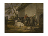 Cowherd and Milkmaid Giclee Print by George Morland