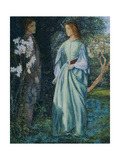 Aurora Leigh's Dismissal of Romney (The Tryst) Giclee Print by Arthur Hughes