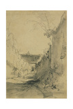 St Peter's from Arco Oscuro Giclee Print by Edward Lear