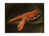 Lobster on a Delft Dish Giclee Print by Charles Collins