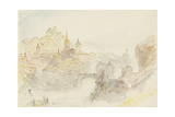 Rheinfelden Sketchbook [Finberg Cccxlix], Baden from the South-East Giclee Print by Joseph Mallord William Turner
