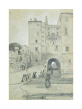 Stairs Leading to S. Pietro in Vincoli Giclee Print by Edward Lear