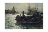 Toil, Glitter, Grime and Wealth on a Flowing Tide Giclee Print by William Lionel Wyllie