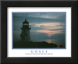 Goals A Journey of a Thousand Miles Begins with a Single Step Lighthouse Posters