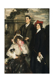 Hylda, Almina and Conway, Children of Asher Wertheimer Giclee Print by John Singer Sargent