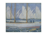 A Procession of Yachts Giclee Print by Philip Wilson Steer