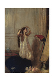 A Girl with a Parrot Giclee Print by Henry Tonks