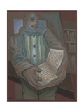 Pierrot with Book Giclee Print by Juan Gris