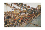 Hammersmith Bridge on Boat-Race Day Giclee Print by Walter Greaves