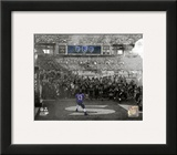 Ray Lewis pre-game introduction final game in Baltimore 2012 Playoff Spotlight Framed Photographic Print