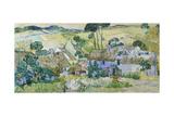 Vincent van Gogh - Farms Near Auvers Digitálně vytištěná reprodukce