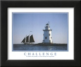 Challenge To Achieve the Possible Lighthouse Motivational Poster