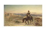 The Remnants of an Army Giclée-tryk af Elizabeth Butler