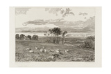 Views in Sussex, Pevensey Bay from Crowhurst Park Giclee Print by Joseph Mallord William Turner