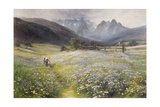 June in the Austrian Tyrol Giclee Print by John MacWhirter