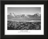 Mt Moran Grand Teton Posters by Ansel Adams