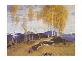 Autumn in the Mountains Giclee Print by Adrian Stokes