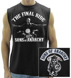Sons Of Anarchy Final Ride Sleeveless T-Shirt Tank Top by  8