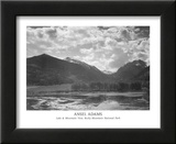 Lake & Mountain View Rocky Mountain National Park Posters by Ansel Adams