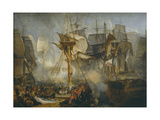 The Battle of Trafalgar, as Seen from the Mizen Starboard Shrouds of the Victory Stampa giclée di Joseph Mallord William Turner