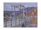Canal Bridge, Flekkefjord Giclee Print by Harold Gilman