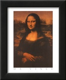 Mona Lisa Text Print by  Leonardo da Vinci