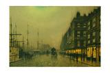Atkinson Grimshaw - Liverpool Quay by Moonlight Digitálně vytištěná reprodukce