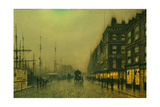 Liverpool Quay by Moonlight Giclee Print by Atkinson Grimshaw