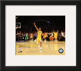 Kobe Bryant Celebrating as Lakers win 2010 NBA Finals (20) Framed Photographic Print