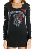 Juniors: SOA Roses Laser Sleeve Mini Dress Mini Dress by  5