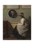 The Mirror Giclee Print by Sir William Orpen