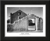 Taos Pueblo Church New Mexico Art by Ansel Adams