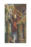 Mary Magdalene Leaving the House Feasting Giclee Print by Dante Gabriel Rossetti