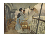 The Gallery of Hms Calcutta (Portsmouth) Giclee Print by James Tissot