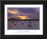 Vision The Future Belongs to Those Who Believe Boats Sunset Motivational Prints