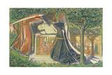 Arthur's Tomb Giclee Print by Dante Gabriel Rossetti