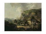 Cottage and Hilly Landscape Giclee Print by Thomas Hand