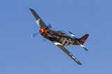 A P-51 Mustang Flies by at Stead Field, Nevada Photographic Print by Stocktrek Images