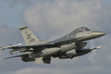 U.S. Air Force F-16 Fighting Falcon Flying over Brazil Photographic Print by Stocktrek Images