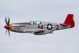 A P-51 Mustang Flies by at Eaa Airventure, Oshkosh, Wisconsin Photographic Print by Stocktrek Images